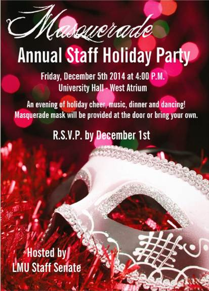 Invitation to the Staff Holiday Party 2014 English