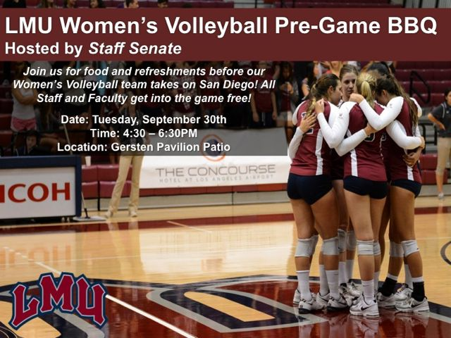 Invitation to WOmen's Volleyball Game and Pre-Game Reception