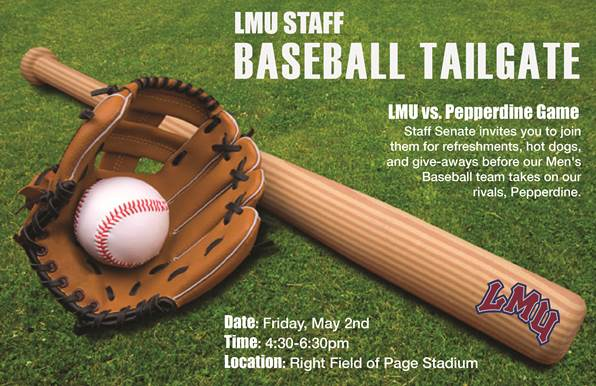 LMU Staff Tailgate and Baseball Game 2014 Invitation